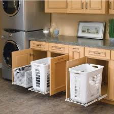 Linen Cabinet With Hamper by Hamper And Utility Basket For Kitchen Or Vanity Kitchensourcecom
