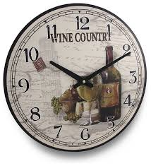 themed wall clock wine country wine themed wall clock 15 traditional wall