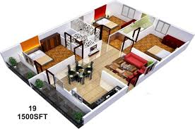 home design for 1500 sq ft home designs for 1500 sq ft area ideas with house plan plans under