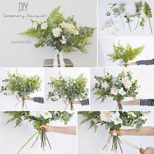 diy bouquet diy greenery bouquet afloral