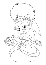 sonia princess sonic coloring pages kids printable free