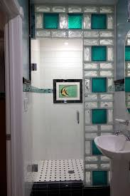 glass bathroom tiles ideas colored glass block shower in a small bathroom renovation san