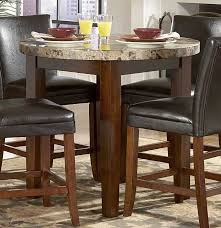 homelegance achillea round counter height dining table marble top
