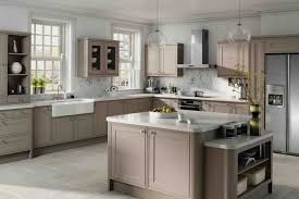 white and taupe lower kitchen cabinets top taupe paints for your kitchen cabinets