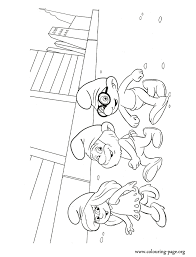 the smurfs smurfette brainy and papa in new york coloring page