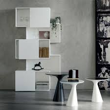 piquant bookcase with sliding doors by cattelan arredaclick