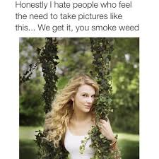 Weed Memes - taylor swift we get it you smoke weed know your meme