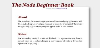 javascript tutorial online book best node js tutorials and resources for beginners idevie
