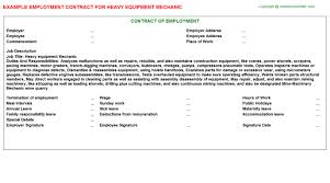 Sample Resume For Heavy Equipment Operator by Heavy Equipment Operator Employment Contracts