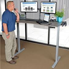 Sit Stand Desk Reviews Adjustable Height Standing Desks Sit Stand Desks Tripp Lite Within