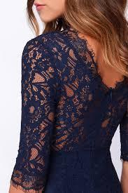 aliexpress com buy long sleeve navy blue lace prom dress slit