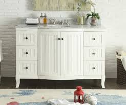 49 inch bathroom vanity cottage beach style beadboard white 49