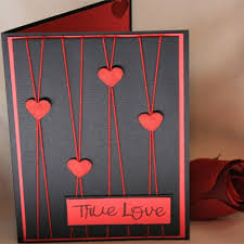 cool valentines cards to make handmade valentines day card black card red mat punched