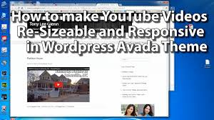 how to make youtube videos resizable in responsive design