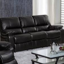 Brown Leather Reclining Sofa by Sofa Recliners You U0027ll Love Wayfair