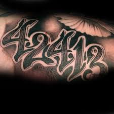 70 number tattoos for numerical ink design ideas