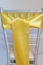 yellow chair sashes yellow satin chair sashes 6x108