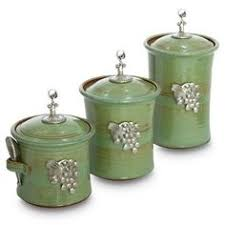 3 pc set of ceramic canisters love these the cute spoons d