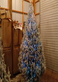 blue flocked christmas tree best images collections hd for