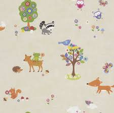 Wallpaper Borders For Bedrooms Woodland Animals Wallpaper U0026 Borders Bedroom U0026 Nursery U2013 Sand