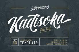 kadisoka font pack by letterhend font bundles