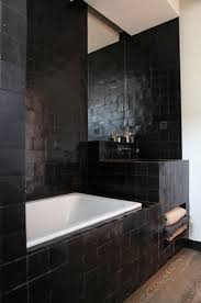 black tile bathroom ideas best 25 black mosaic tiles ideas on contemporary