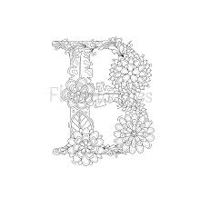 view floral letters by fleurdoodles on etsy