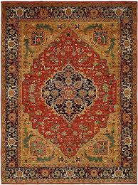 Area Rug Pattern Antique Heriz 6 9 Knotted Style Wool Area Rug Pattern
