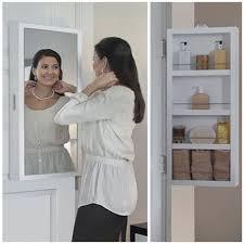 Mirrored Storage Cabinet Cabidor Mini Deluxe Mirrored Behind The Door Storage Cabinet