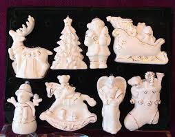 blank white porcelain ornaments ready to paint set of 8
