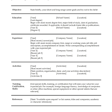 resume templates for microsoft word exles elegant basic resume template choose exles of resumes 12 good