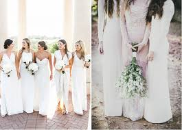 clean wedding dress dress your bridesmaids in white for a modern clean wedding