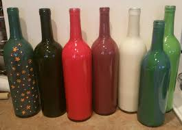 diy painted wine bottles how to paint wine bottles in 5 minutes