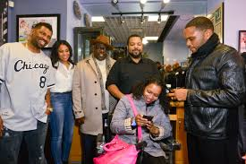 barbershop the next cut u201d cast members promotes film visit