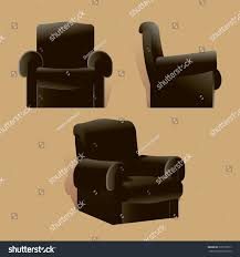 Leather Reclining Chairs Black Leather Reclining Chair Vector Isolated Stock Vector
