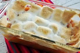 Sweet Potato Recipe For Thanksgiving With Marshmallows Sweet Potato Yam Casserole With Marshmallows Recipe Genius Kitchen