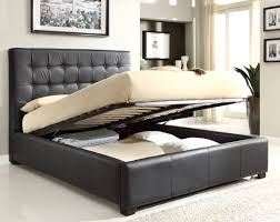 bed black queen bed frame with storage home design ideas