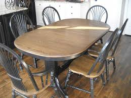 Refinish Dining Chairs Refinished Oak Dining Set Two Collection With Beautiful Refinish A