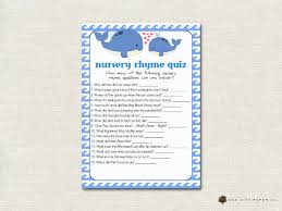 nursery rhyme baby shower whale nursery rhyme quiz baby shower whale nursery