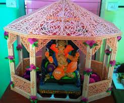 How To Decorate Mandir At Home Thermocol Decorative Temple 4 Steps With Pictures