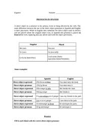 spanish direct object pronouns by world language classroom tpt