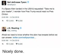 Neil Degrasse Tyson Reaction Meme - 25 best memes about trump alien trump alien memes
