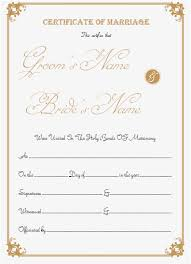 catholic marriage certificate marriage certificate template write your own certificate