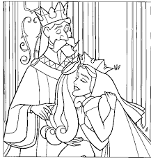 sleeping beauty parents coloring pages printable colouring