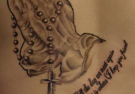 rosary tattoo 35 lovely rosary tattoos creativefan tattoos