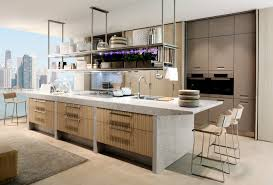 stone wood kitchen with island interior design ideas