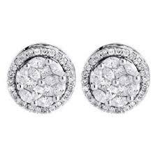 diamond earrings design diamond earrings 14k white gold marquise princess halo design