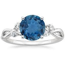 blue topaz engagement rings london blue topaz willow ring in 18k white gold brilliant earth