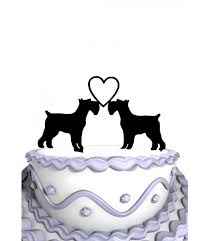 dog wedding cake toppers meijiafei schnauzer dogs weddings cake topper