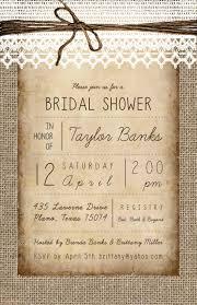 vintage bridal shower invitations vintage burlap bridal shower invitations laws prints
